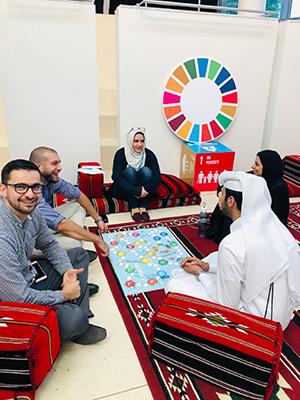 كلية الدراسات الإسلامية تتناول أهداف الأمم المتحدة  للتنمية المستدامة في مجلس المبدعين