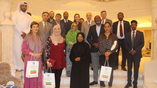عميد كلية السياسات العامة وعضو هيئة تدريس يشاركان في ندوة ثقافية تستضيفها سفيرة إثيوبيا لدى دولة قطر