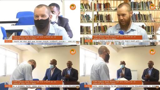 تكريم أستاذ بكلية السياسات العامة عن مساهماته في تطوير مكتبة الدراسات العليا بجامعة هواسا الإثيوبية