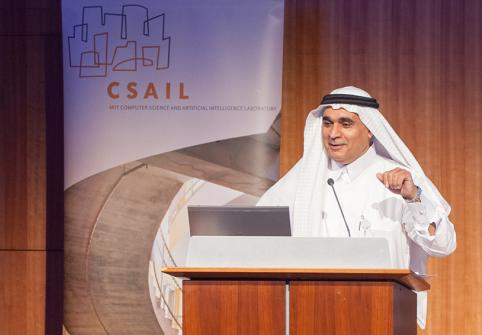 Dr. Ahmed Elmagarmid, executive director of HBKU's Qatar Computing Research Institute, at the MIT CSAIL event (archived image)