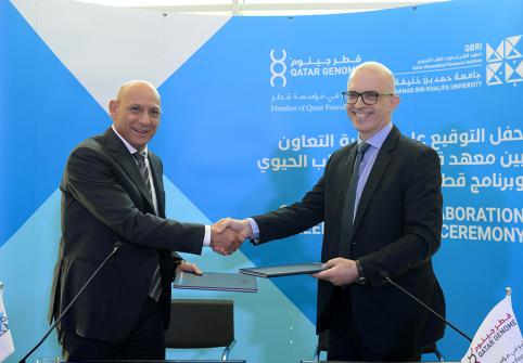 Qatar Biomedical Research Institute at Hamad Bin Khalifa University has recently signed an agreement with the Qatar Genome Programme.