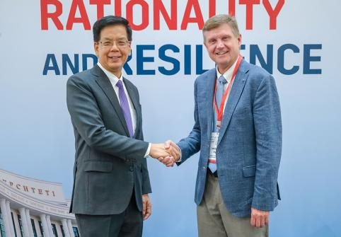 Dr. Weng Tat Hui, Dean of the Graduate School of Public Policy at Nazarbayev University, and Dr. Leslie A. Pal, Dean of the College of Public Policy at Hamad Bin Khalifa University.