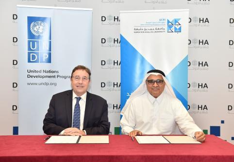 HBKU's Qatar Computing Research Institute Signs Memorandum of  Understanding with United Nations Development Programme