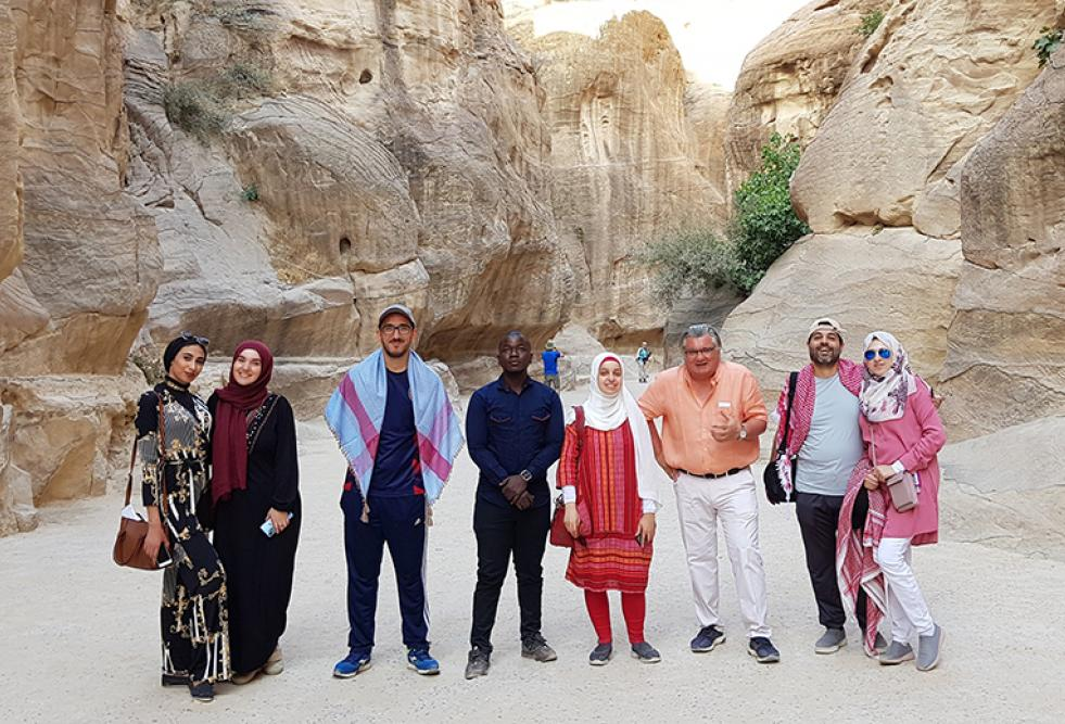 Students at HBKU's College of Islamic Studies Explore Islamic Architecture in Jordan