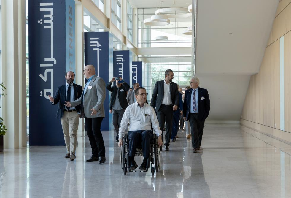 رئيس وزراء ولاية ساكسونيا الألمانية والوفد المرافق يزوران مؤسسة قطر وجامعة حمد بن خليفة