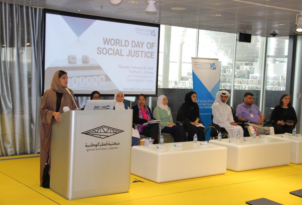 Dr. Amal Al-Malki, founding dean of the College of Humanities and Social Sciences, at the event.
