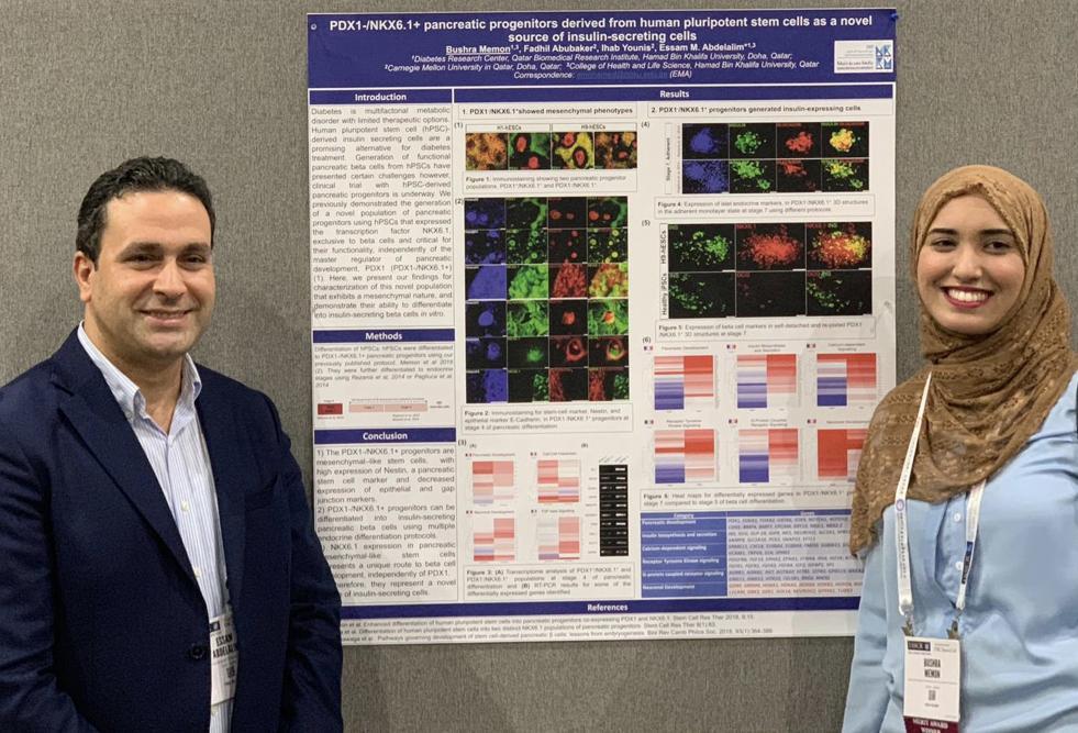 تكريم طالبة بكلية العلوم الصحية والحيوية في جامعة حمد بن خليفة عن بحثها حول الخلايا الجذعية
