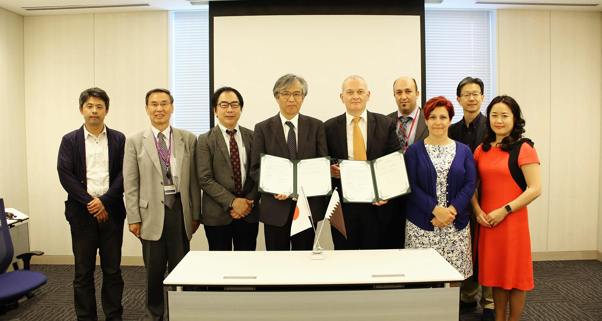 HBKU's QEERI Signs MoU with Japan's International Center for Materials Nanoarchitectonics