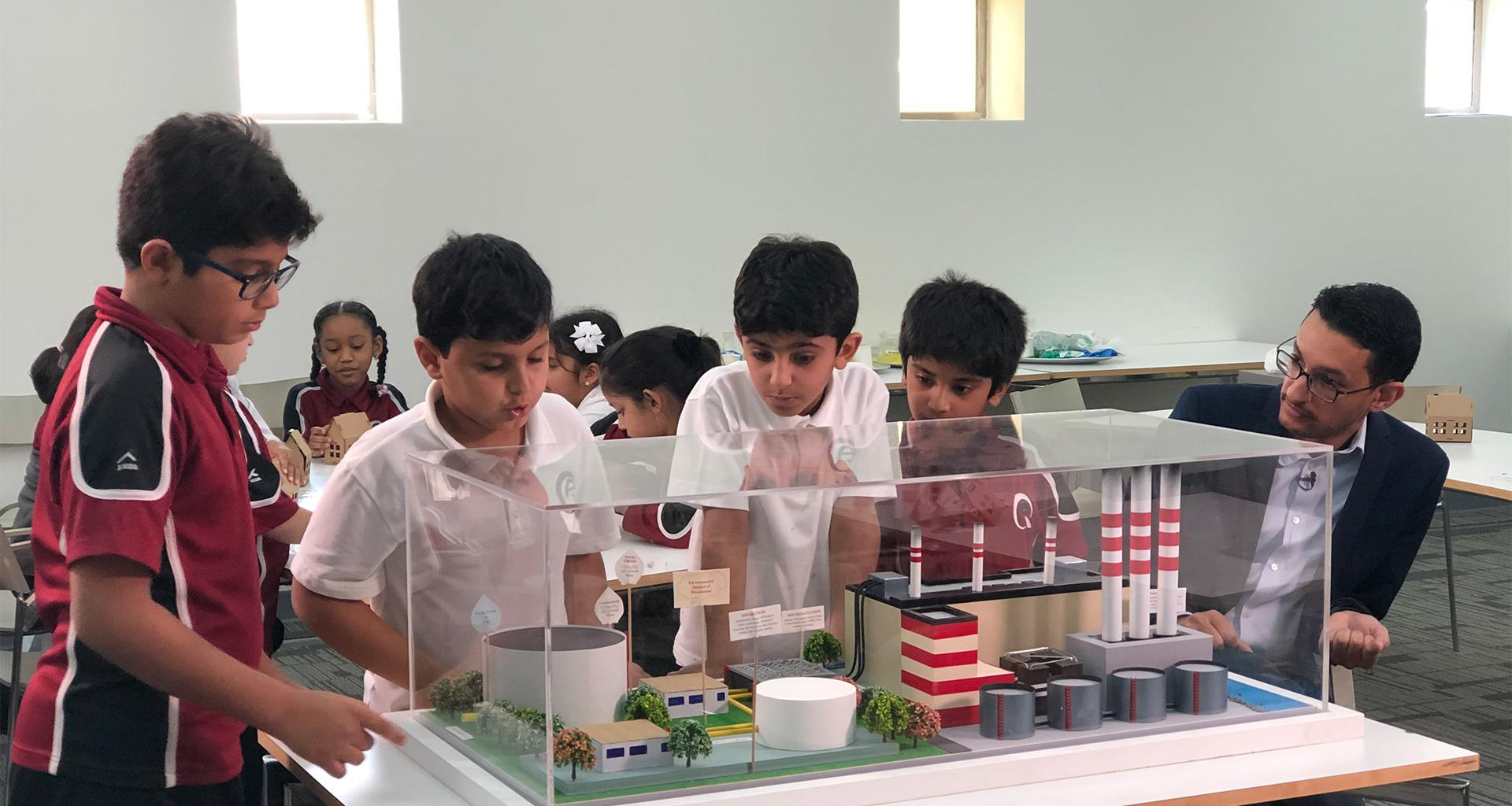 College of Science and Engineering Research Group Hosts 'How the World Works' Workshop Within the 'Sustainability for Children' Outreach Program at HBKU